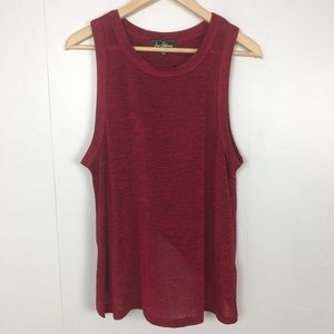 SAM EDELMAN Sleeveless Tank Top Tulip Back Size M